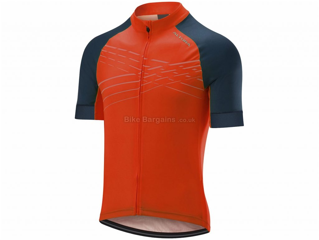 Altura Firestorm Short Sleeve Jersey XL, Orange, Blue, Men's, Short Sleeve, Polyester, Elastane