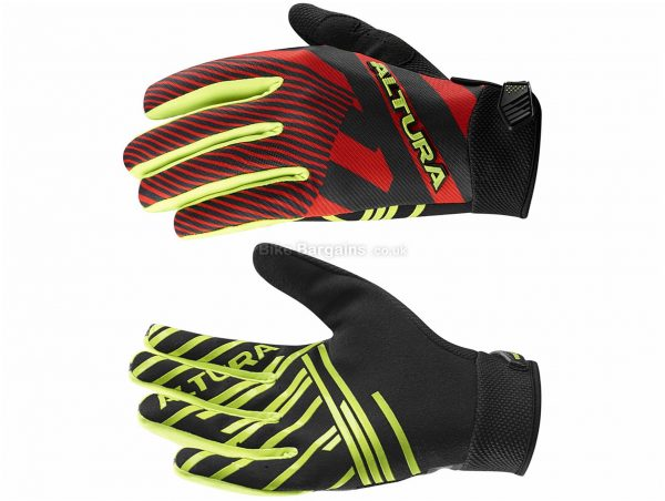 Altura Three60 G2 Full Finger Gloves S, Red, Black, Yellow, Unisex, Full Finger, Polyester, Polyamide, Polyurethane, Elastane