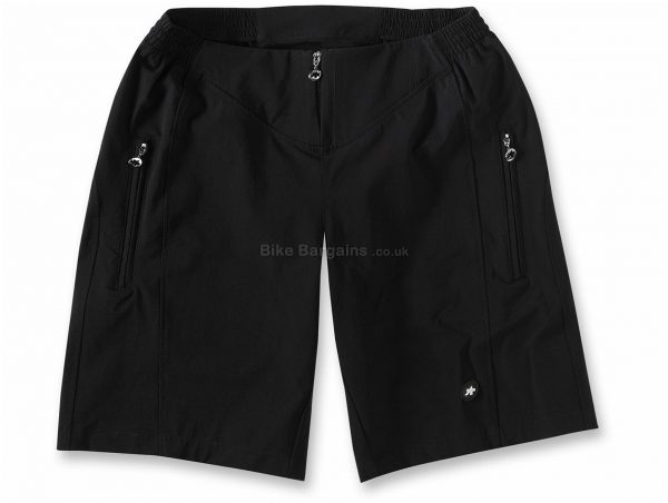 Assos Signature Baggy Track Shorts XS, Black, Men's, Baggy, Polyester, Elastane
