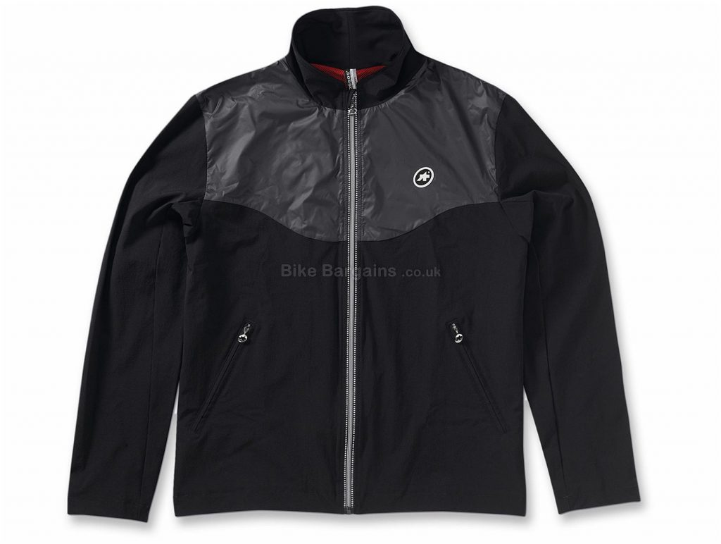 Assos TrackJack Signature Jacket XS, Grey, Black, Men's, Long Sleeve, Polyester, Elastane
