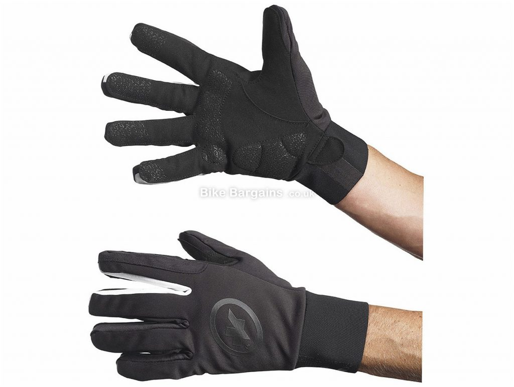 Assos bonkaGlove_evo7 Full Finger Gloves XXL, Black, Unisex, Full Finger, Neoprene, Polyamide