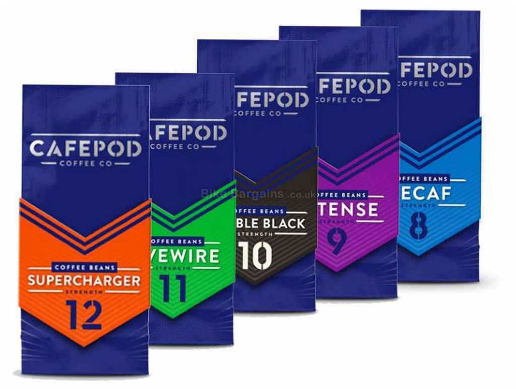 CafePod 200g Coffee Beans 4 Pack 4 pack, 200g, various blends & strengths, Purple