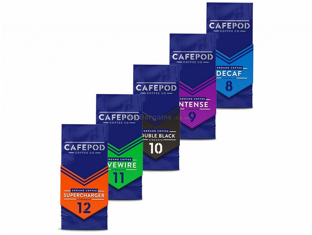 CafePod 200g Ground Coffee 4 Pack 4 pack, 200g, various blends & strengths, Purple