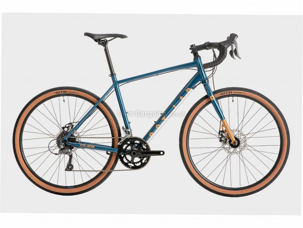 Calibre Lost Lad Alloy Road Bike 2020 XL, Blue, Brown, Men's, 16 Speed, Disc Brakes, Double Chainring, 650c, 12.4kg, Alloy