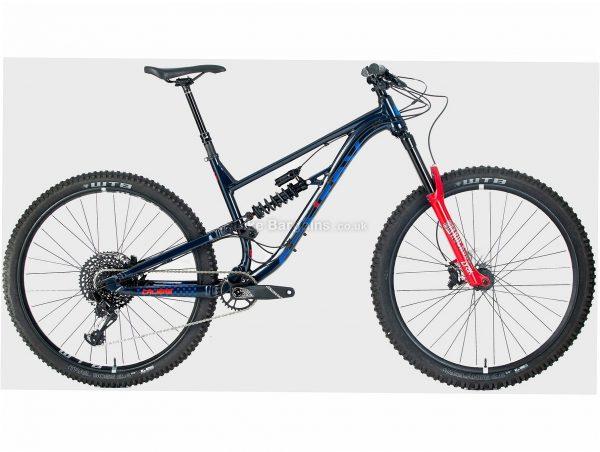 Calibre Sentry Pro Enduro Alloy Full Suspension Mountain Bike M, Black, Blue, Red