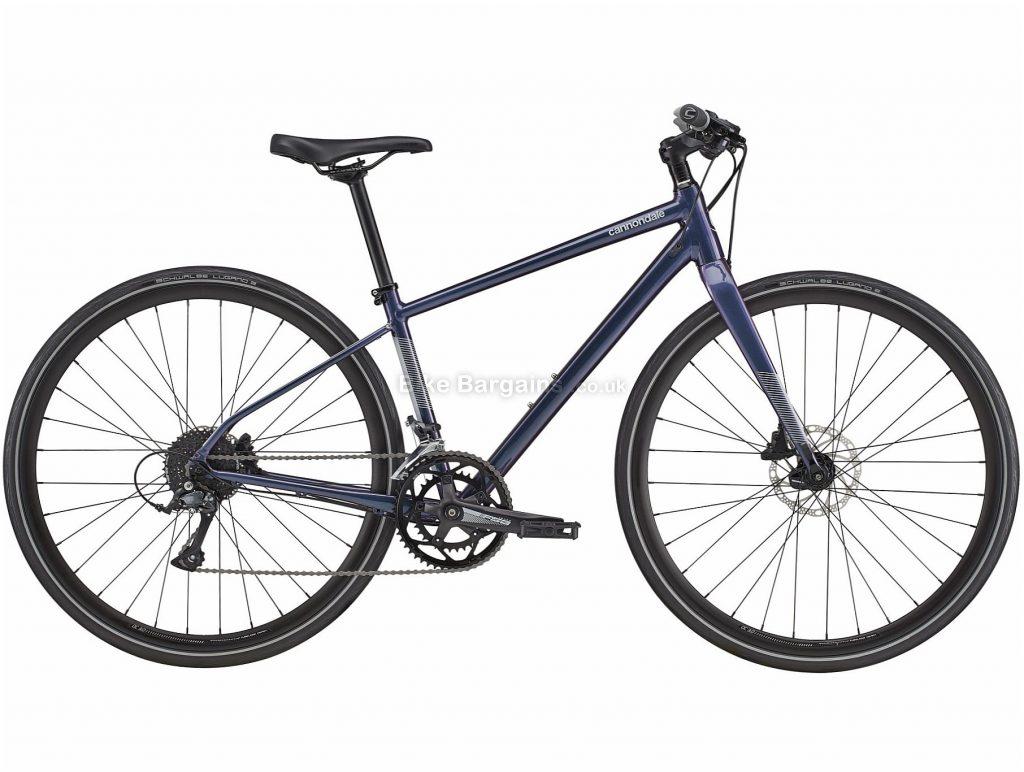 Cannondale Quick 2 Ladies Alloy City Bike 2020 S, M, L, Purple, Disc Brakes, Double Chainring, 18 Speed, Rigid, 700c, Alloy