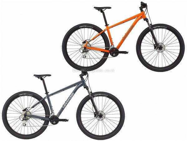 """Cannondale Trail 6 29er Alloy Hardtail Mountain Bike 2021 M, Grey, Orange, Disc Brakes, Double Chainring, 16 Speed, Hardtail, 29"""", Alloy"""