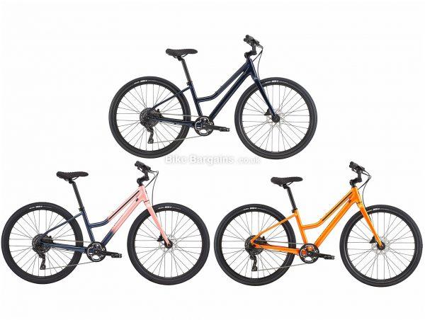 Cannondale Treadwell 2 Remixte Step Through Ladies Alloy City Bike 2019 L, Orange, Disc Brakes, Single Chainring, 9 Speed, Rigid, 650c, Alloy