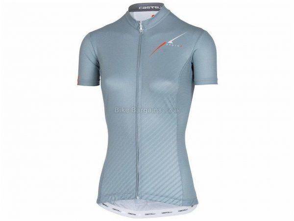 Castelli 3T XPDTN Explore Ladies Short Sleeve Jersey XL, Blue, Grey, Short Sleeve, Polyester, Elastane
