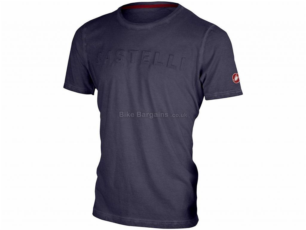 Castelli Bassorilievo T-Shirt S, Grey, Cotton, Short Sleeve