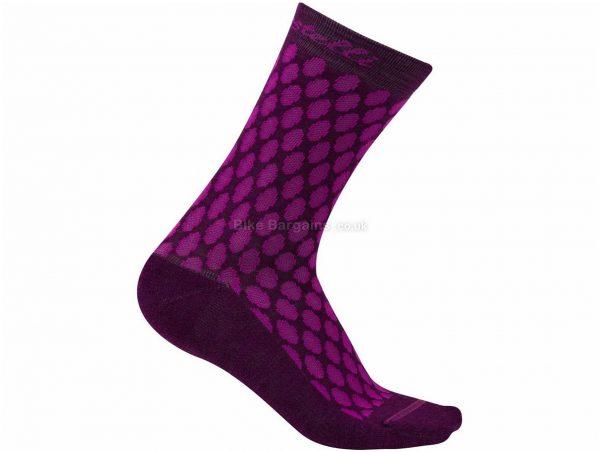 Castelli Ladies Sfida 13 Socks S,M, White, Ladies, Merino, Wool