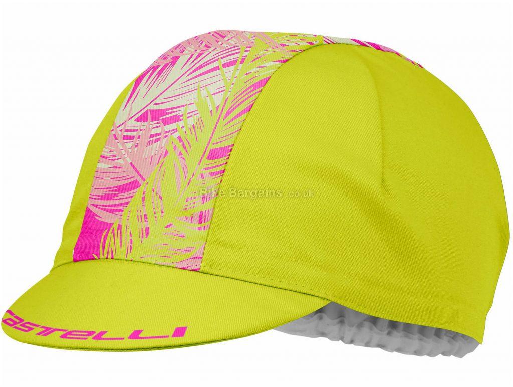 Castelli Ladies TR Cap One Size, Yellow, Pink, Ladies, Polyamide, Cotton