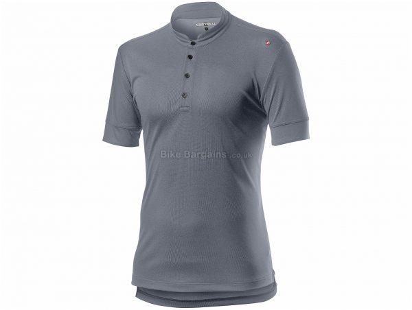 Castelli Tech Short Sleeve Polo Shirt S, Grey, Men's, Short Sleeve, Polyester
