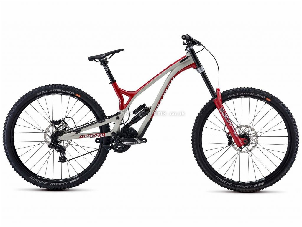 "Commencal Supreme DH 29 Team Alloy Full Suspension Mountain Bike L, Grey, Red, Alloy Frame, 29"" Wheels, Disc Brakes, 7 Speed, 16.2kg"