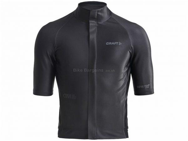 Craft CTM Gore Tex Short Sleeve Jersey L, Black, Blue, Men's, Short Sleeve, Polyester