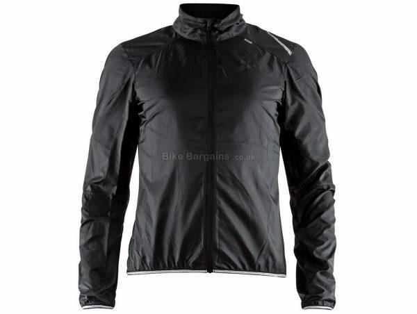 Craft Lithe Lightweight Jacket XS,S, Black, Long Sleeve, Men's, Polyester, Elastane