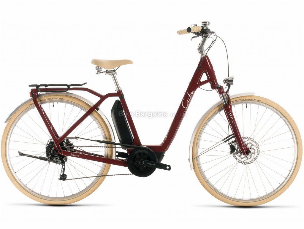 Cube Ella Ride Hybrid 500 Ladies Alloy Electric Bike 2020 46cm, Red, White, Alloy Frame, 700c Wheels, Disc Brakes, 9 Speed, 24.3kg