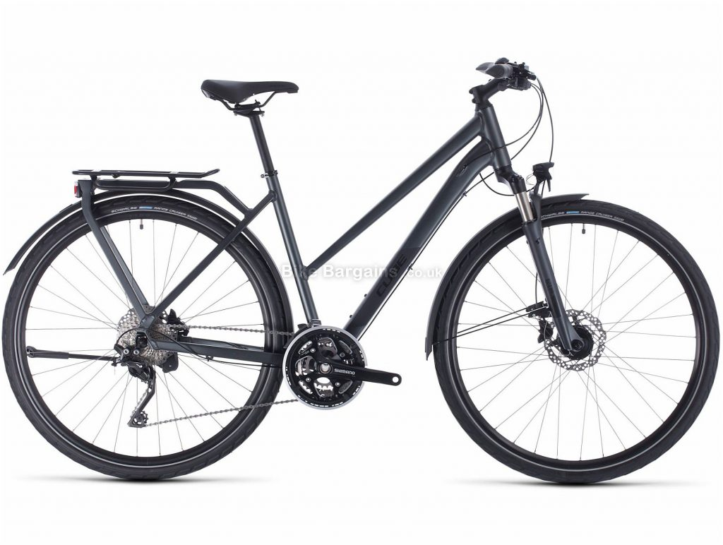 Cube Kathmandu Pro Trapeze Ladies Alloy Touring City Bike 2020 50cm, Grey, Black, Alloy Frame, 700c Wheels, Disc Brakes, 30 Speed, 15.8kg