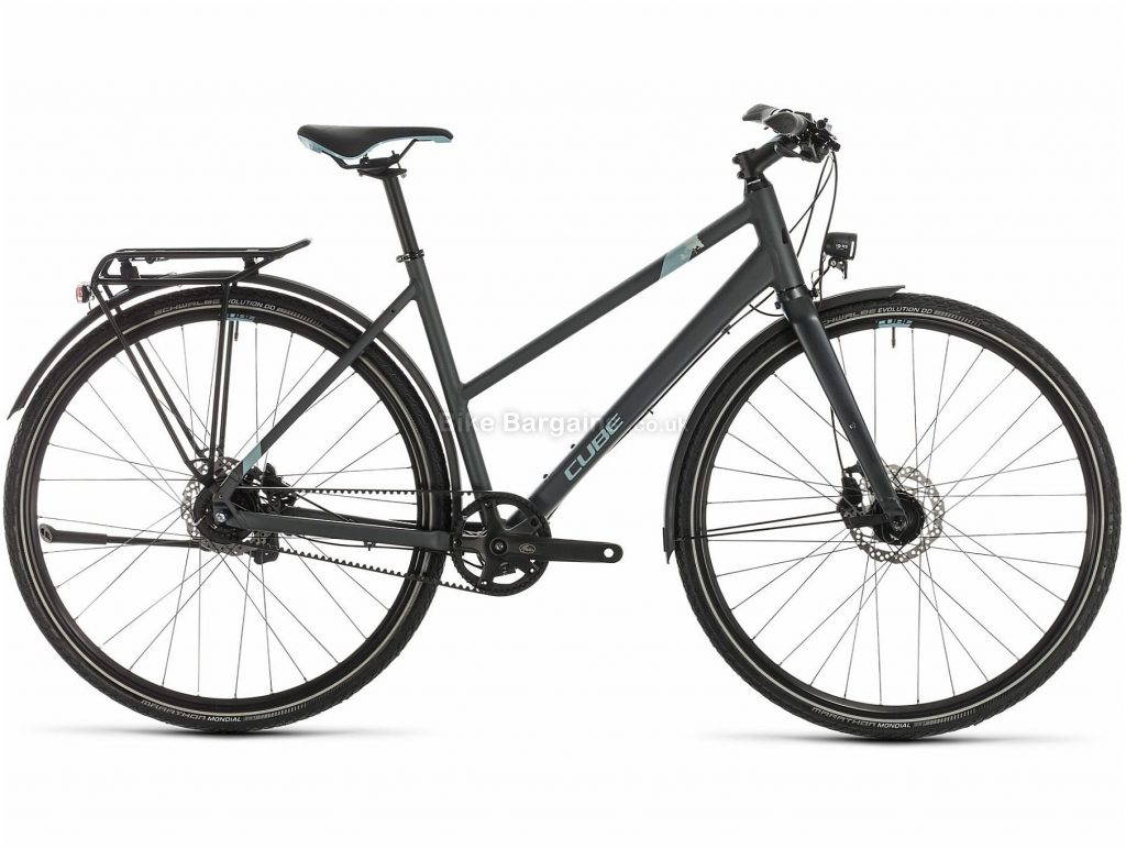 Cube Travel EXC Trapeze Ladies Alloy Touring City Bike 2020 50cm, Grey, Blue, Alloy Frame, 700c Wheels, Disc Brakes, 8 Speed, 13.9kg