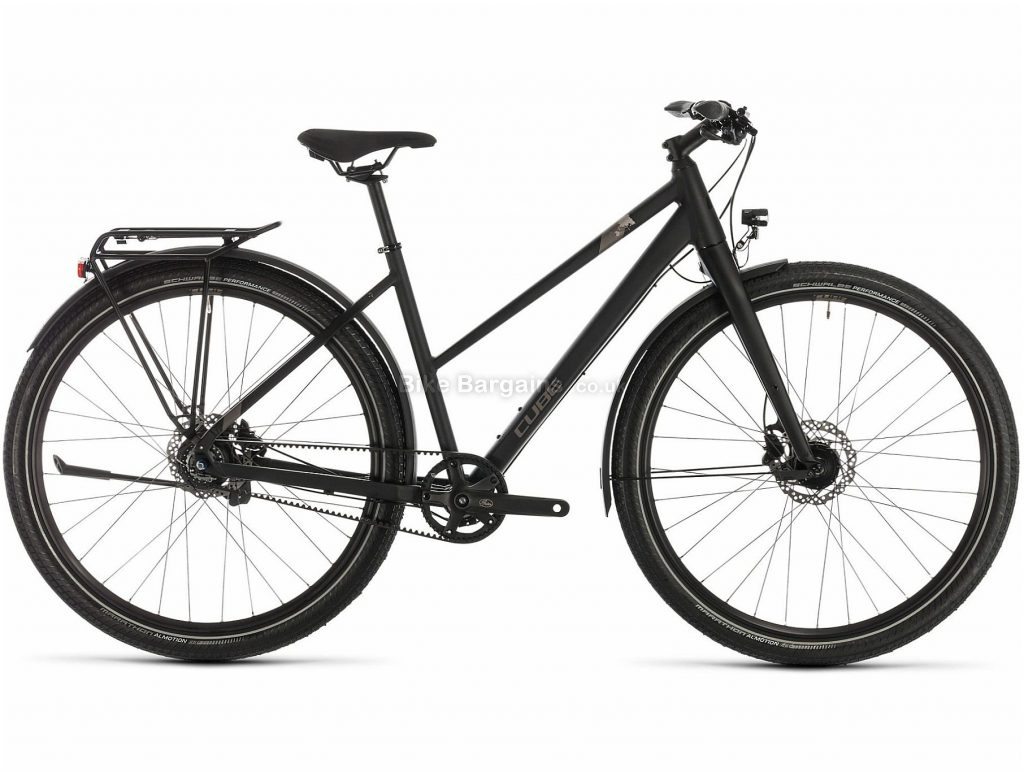 Cube Travel Pro Trapeze Ladies Alloy Touring City Bike 2020 50cm, Black, Brown, Alloy Frame, 700c Wheels, Disc Brakes, 8 Speed, 15.3kg