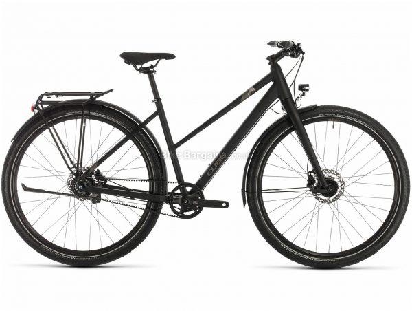 Cube Travel Pro Trapeze Ladies Alloy Touring City Bike 2020 50cm, Black, Brown, Alloy Frame, 700c Wheels, Disc Brakes, 8 Speed, 15.3kg