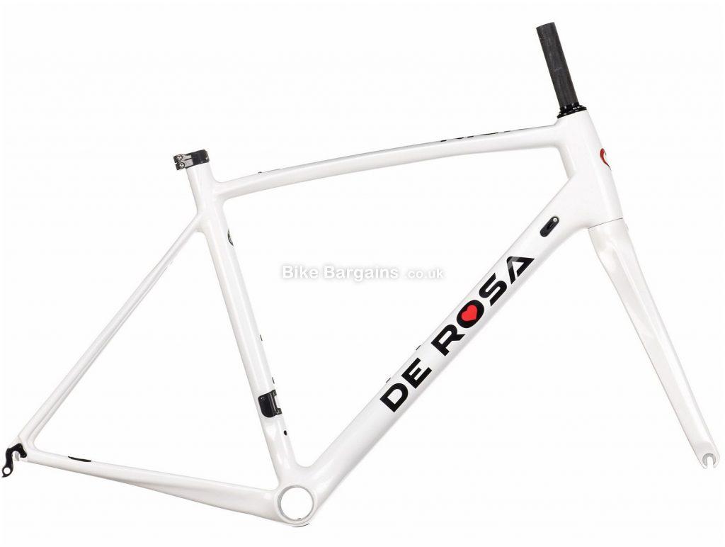 De Rosa Nick Carbon Road Frame 2020 52cm, White, Black, Caliper Brakes, 700c, 1.37kg, Carbon