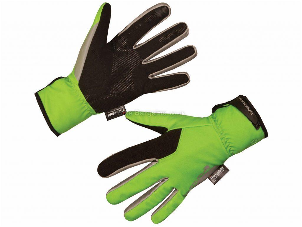 Endura Deluge II Waterproof Full Finger Gloves XS,S,M, Black, Grey, Men's, Full Finger, Nylon, Polyester, Polyurethane, Elastane
