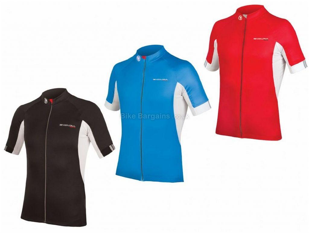 Endura FS260 Pro 3 Short Sleeve Jersey S, Red, Short Sleeve, Polyester