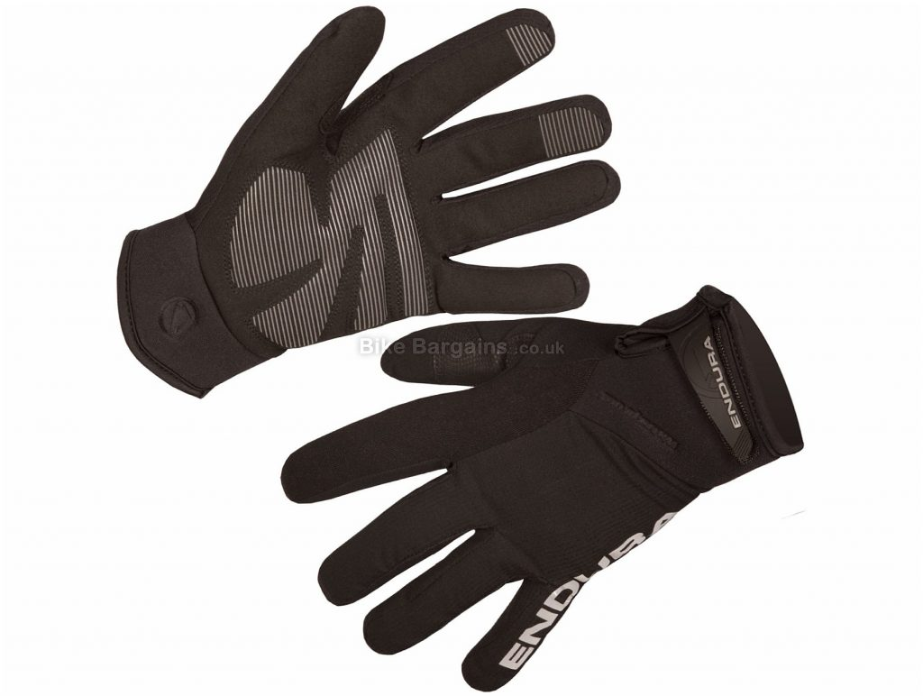 Endura Ladies Strike II Full Finger Gloves M, Black, Ladies, Full Finger, Polyamide, Polyester, Polyurethane, Elastane