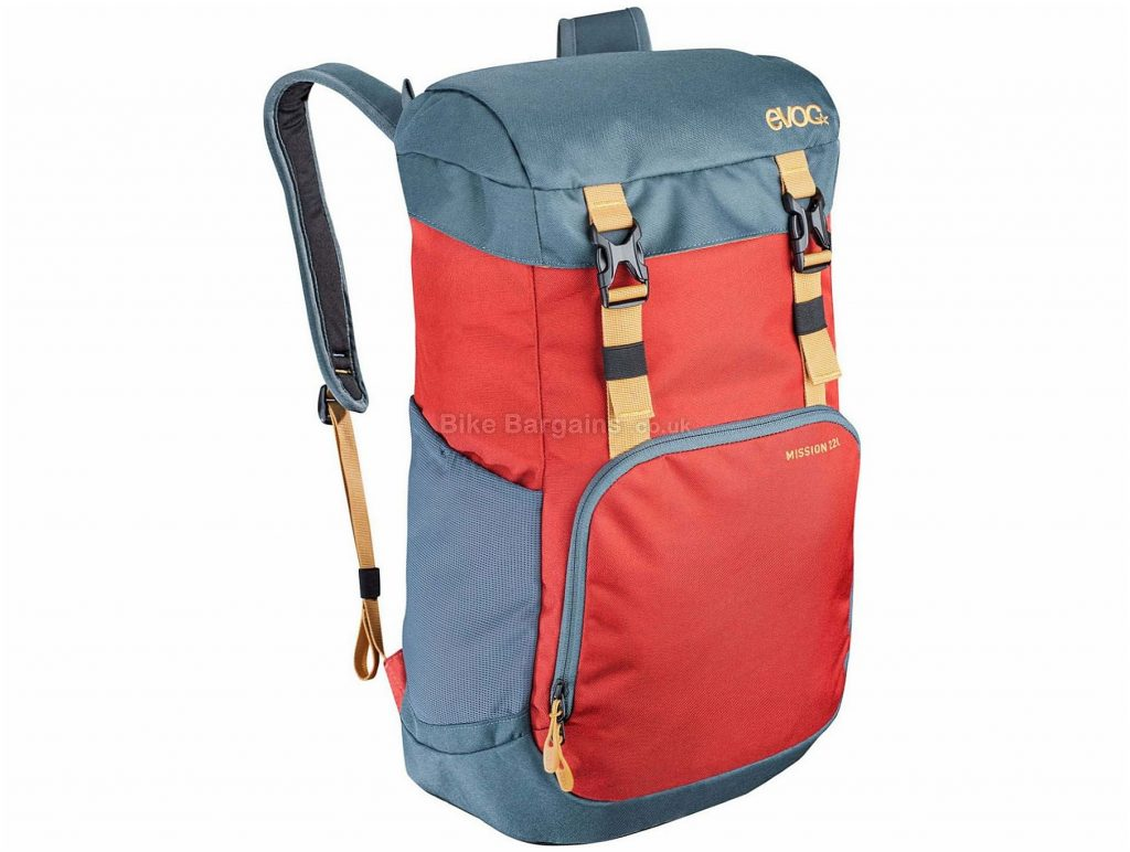 Evoc Mission 16 Litre Backpack 16 Litres, Grey, Red, 600g, Nylon