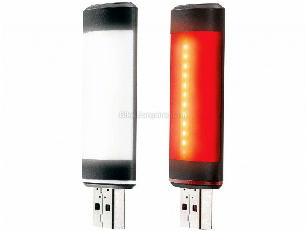 Fabric Lumacell USB Light Set 20 Lumens, 30 Lumens, Front & Rear, White, Red, Black, 29g, Nylon, USB rechargeable