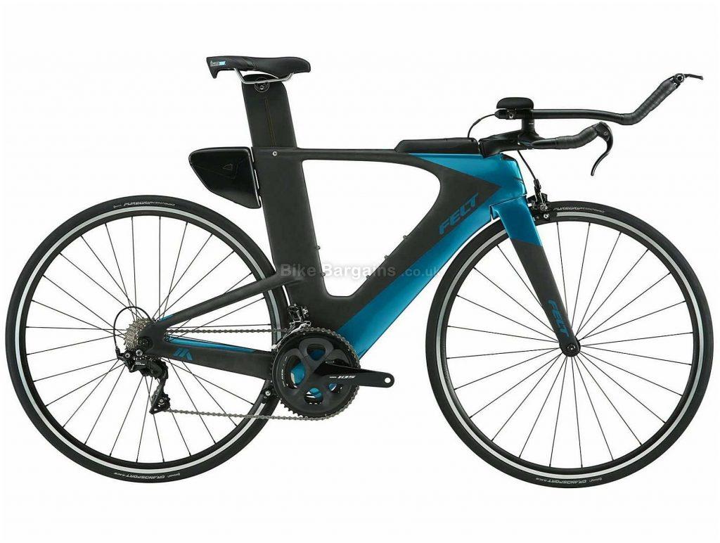 Felt IA Advanced 105 Carbon TT Road Bike 56cm, Blue, Black, Carbon Frame, 700c Wheels, Caliper Brakes, 22 Speed, 9.49kg