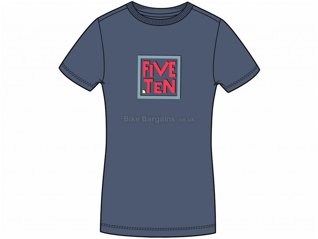 Five Ten Ladies GFX Short Sleeve T-Shirt S, Blue, Ladies, Short Sleeve, Cotton