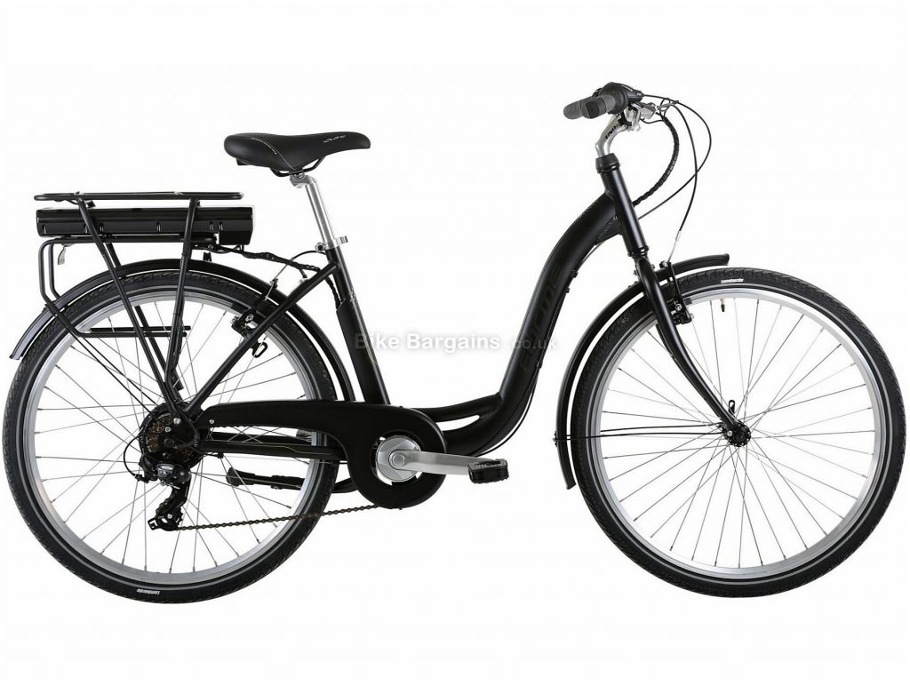 "Forme Buxton 2 Ladies Alloy Electric Bike 18"", Black, Ladies, 7 Speed, Caliper Brakes, Single Chainring, 26"", Alloy"