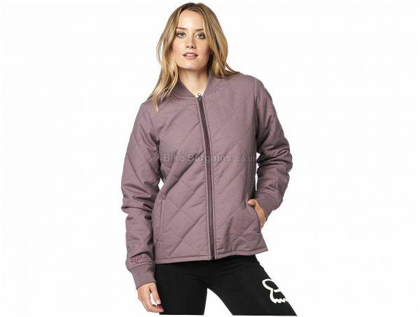 Fox Cosmic Bomber Jacket S, Black, Purple, Ladies, Long Sleeve, Cotton, Polyester