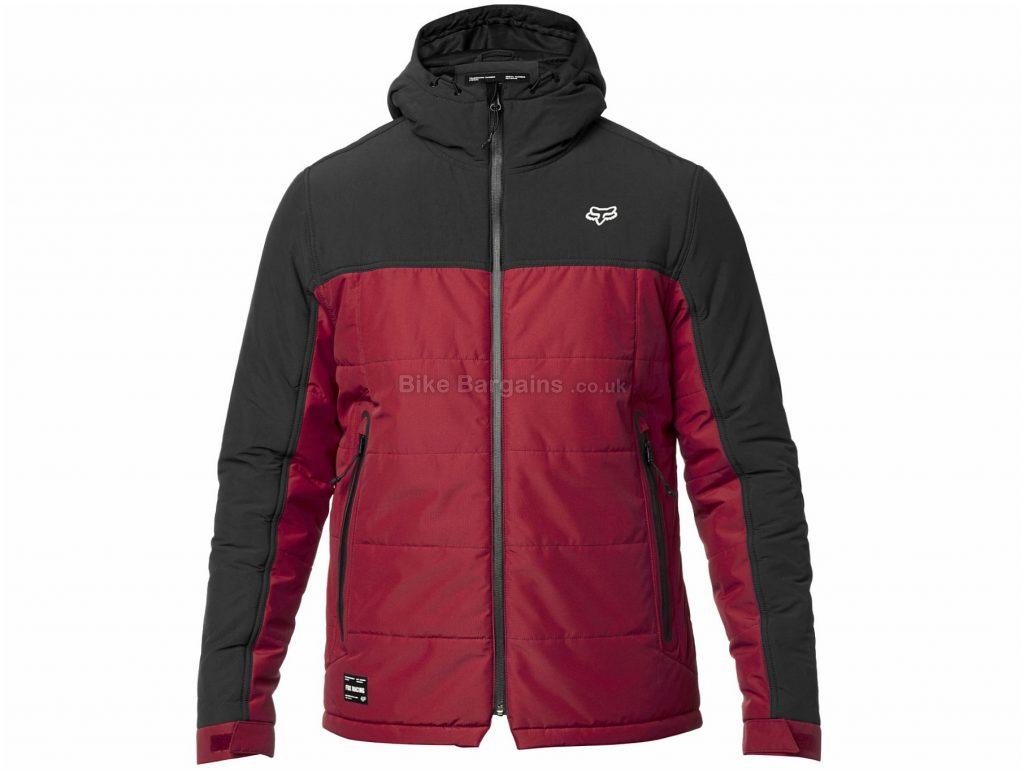 Fox Harrison Jacket L, Black, Red, Men's, Long Sleeve, Nylon