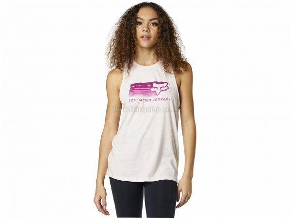 Fox Ladies Drifter Sleeveless Tank Top L, Pink, Ladies, Sleeveless, Cotton