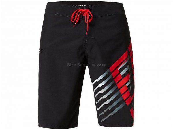 "Fox Lightspeed 21"" MTB Boardshorts 32"", Black, Red, White, Men's, Baggy, Polyester"