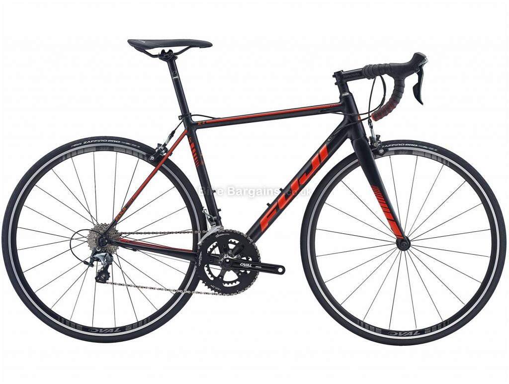 Fuji SL-A 1.5 Alloy Road Bike 54cm, Black, Orange, Alloy Frame, 700c Wheels, Caliper Brakes, 20 Speed
