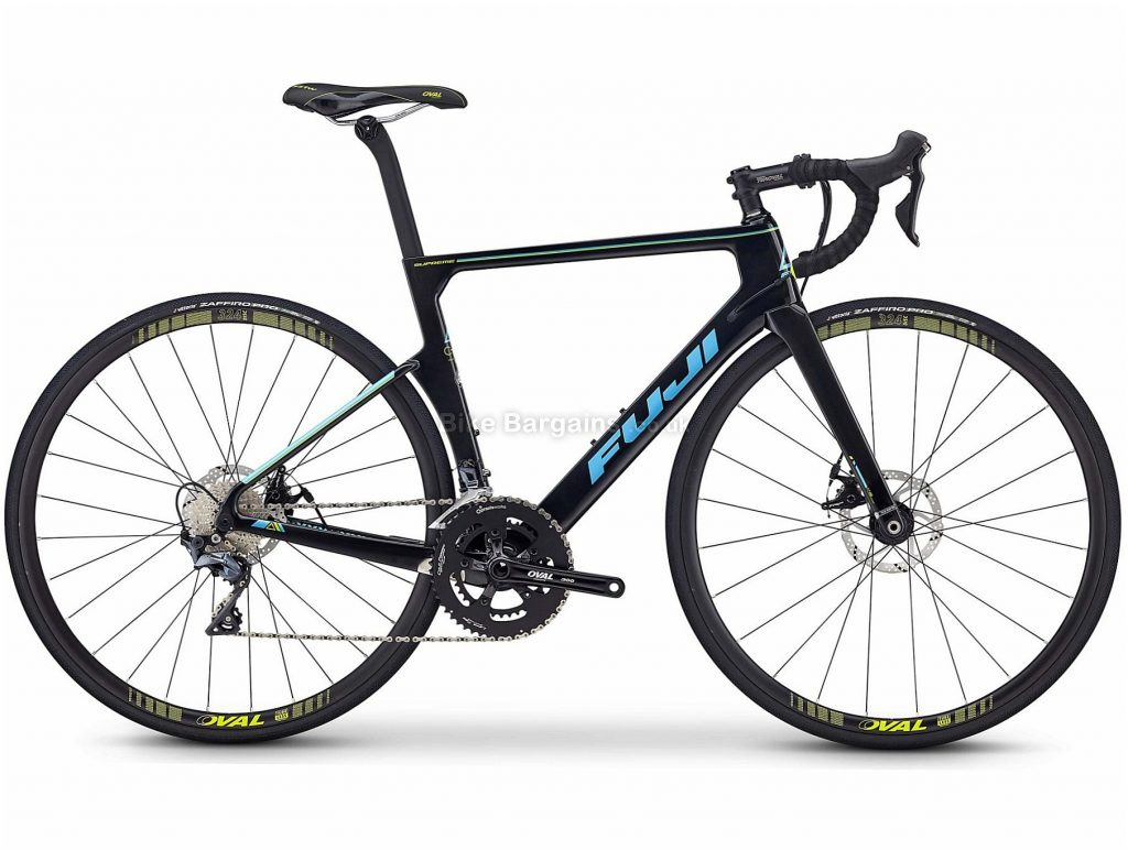 Fuji Supreme 2.5 Carbon Road Bike 2020 50cm, Black, Blue, Carbon Frame, 700c Wheels, Disc Brakes, 22 Speed