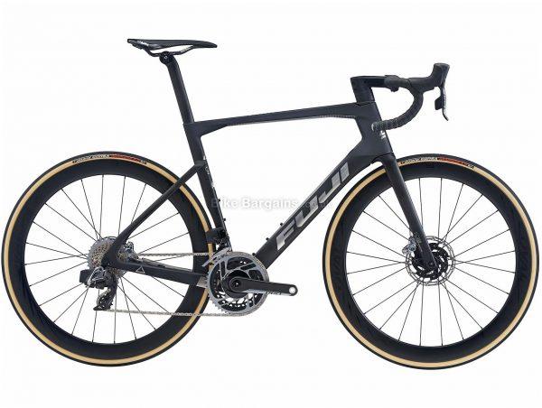 Fuji Transonic 1.1 Disc Carbon Road Bike 2020 58cm, Black, Silver, Carbon Frame, 700c Wheels, Disc Brakes, 24 Speed