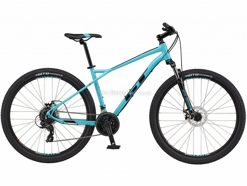 """GT Aggressor Comp Alloy Hardtail Mountain Bike 2021 L, Blue, Alloy Frame, Disc Brakes, 24 Speed, 29"""" Wheels, Triple Chainring"""