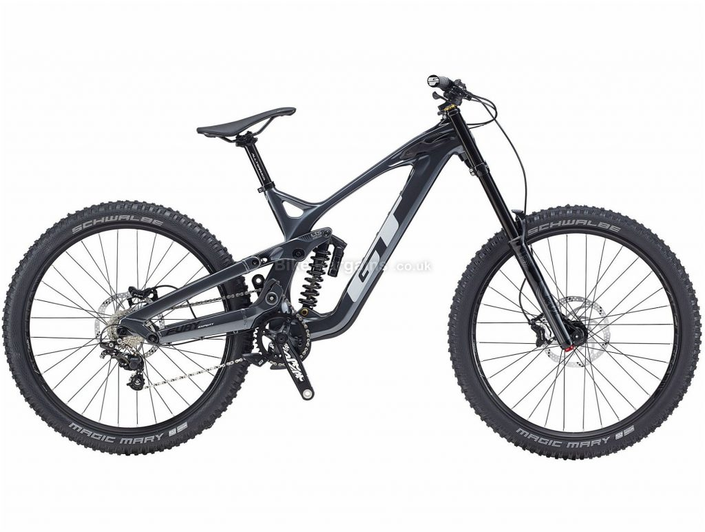"GT Fury Expert 27.5 Carbon Full Suspension Mountain Bike 2020 S, Grey, 10 Speed, Carbon Frame, 27.5"" Wheels, Disc Brakes, Full Suspension"