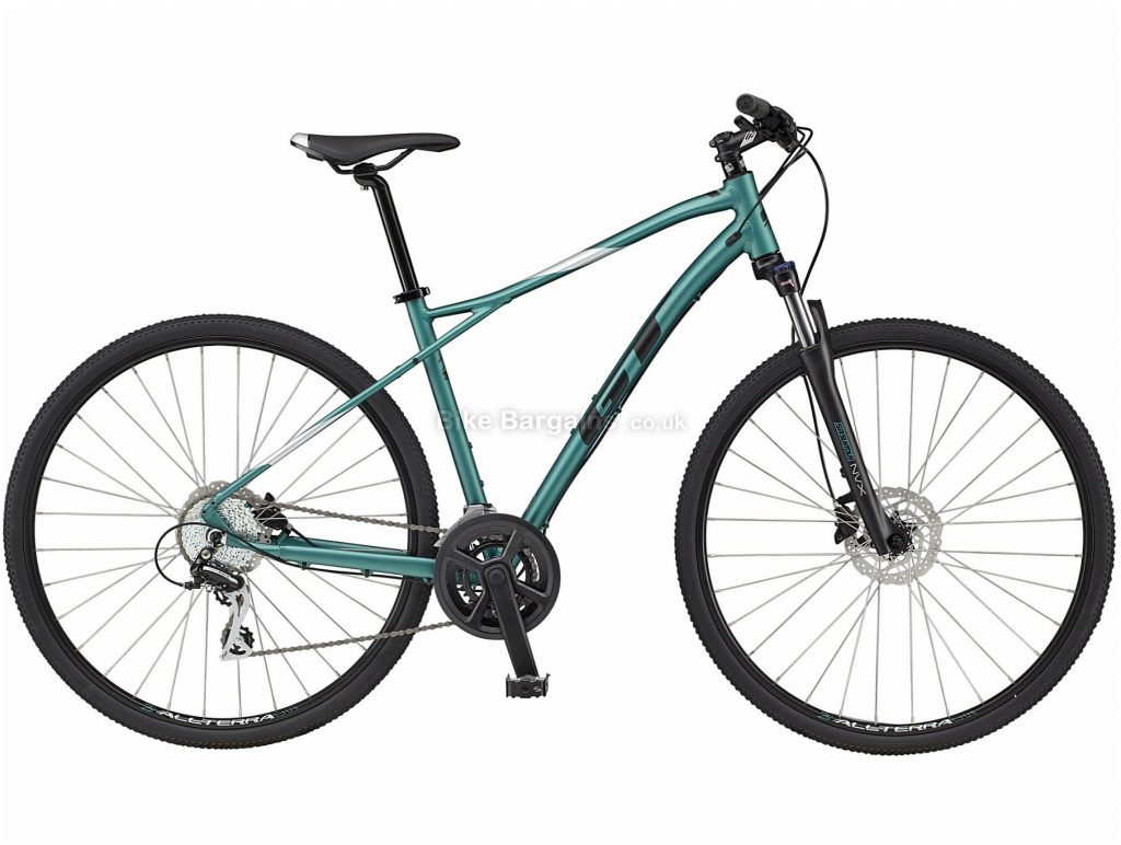 GT Transeo Elite Alloy City Bike 2021 L, XL, Green, Black, Disc Brakes, Double Chainring, 16 Speed, Hardtail, 700c, Alloy