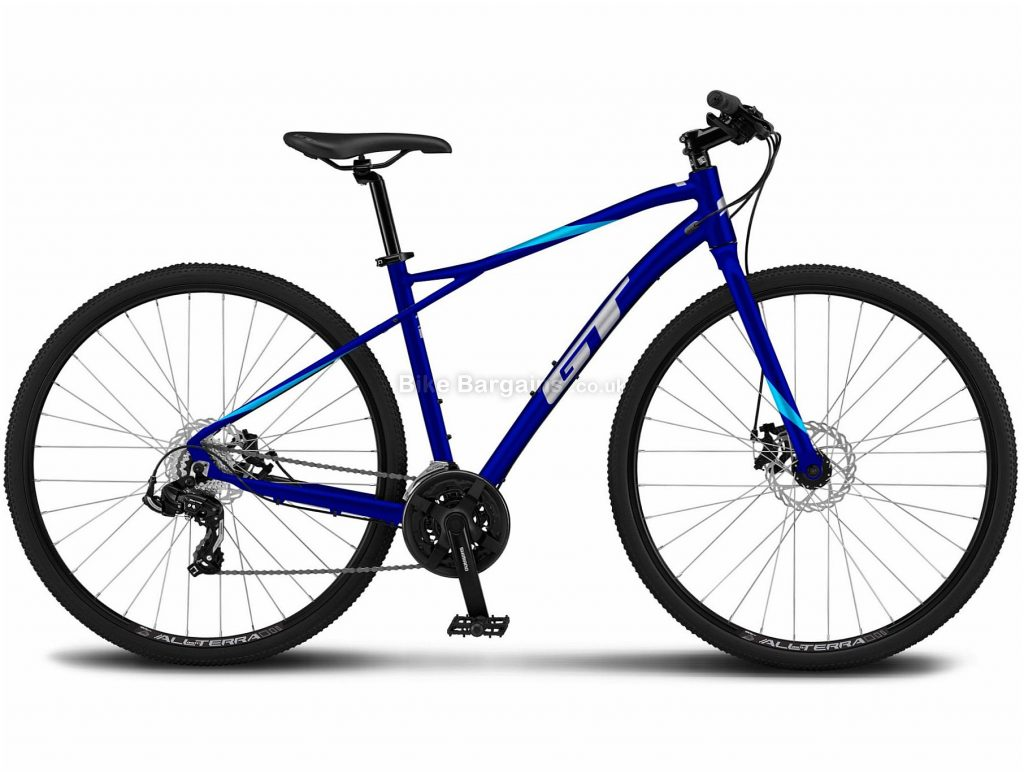 GT Transeo Sport Alloy Urban City Bike 2021 XL, Blue, Alloy Frame, Disc Brakes, 21 Speed, 700c Wheels, Triple Chainring