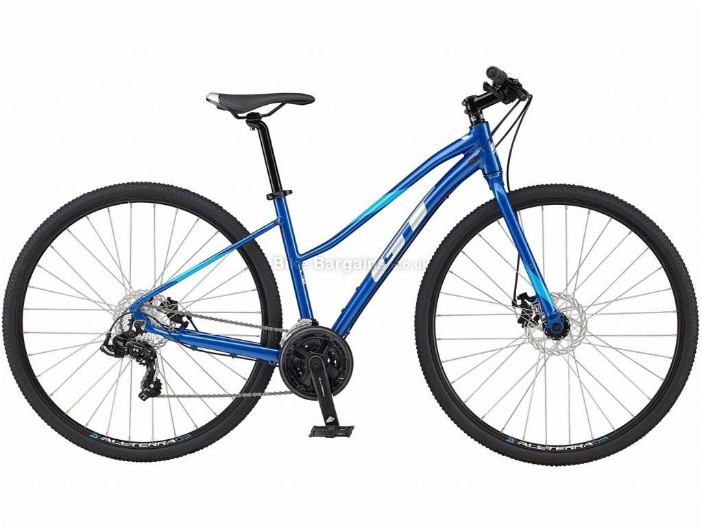 GT Transeo Sport Ladies Step Thru Alloy Urban City Bike 2021 M,L, Blue, Alloy Frame, Disc Brakes, 21 Speed, 700c Wheels, Triple Chainring