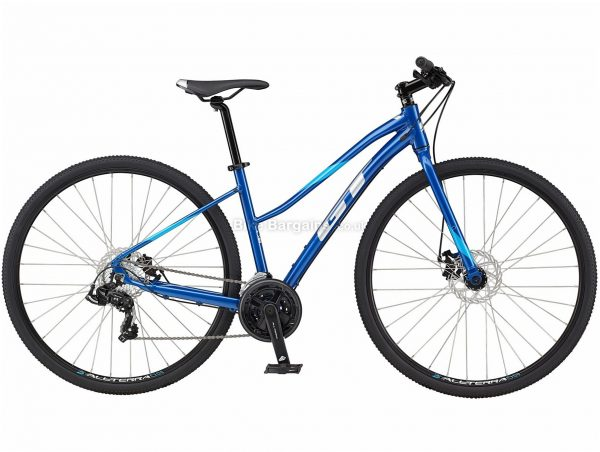 GT Transeo Sport Ladies Step Thru Alloy Urban City Bike 2021 L, Blue, Alloy Frame, Disc Brakes, 21 Speed, 700c Wheels, Triple Chainring