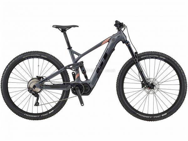 "GT eForce Current 29 Alloy Full Suspension Electric Bike 2020 XL, Grey, Black, 10 Speed, Alloy Frame, 29"" Wheels, Disc Brakes, Full Suspension"