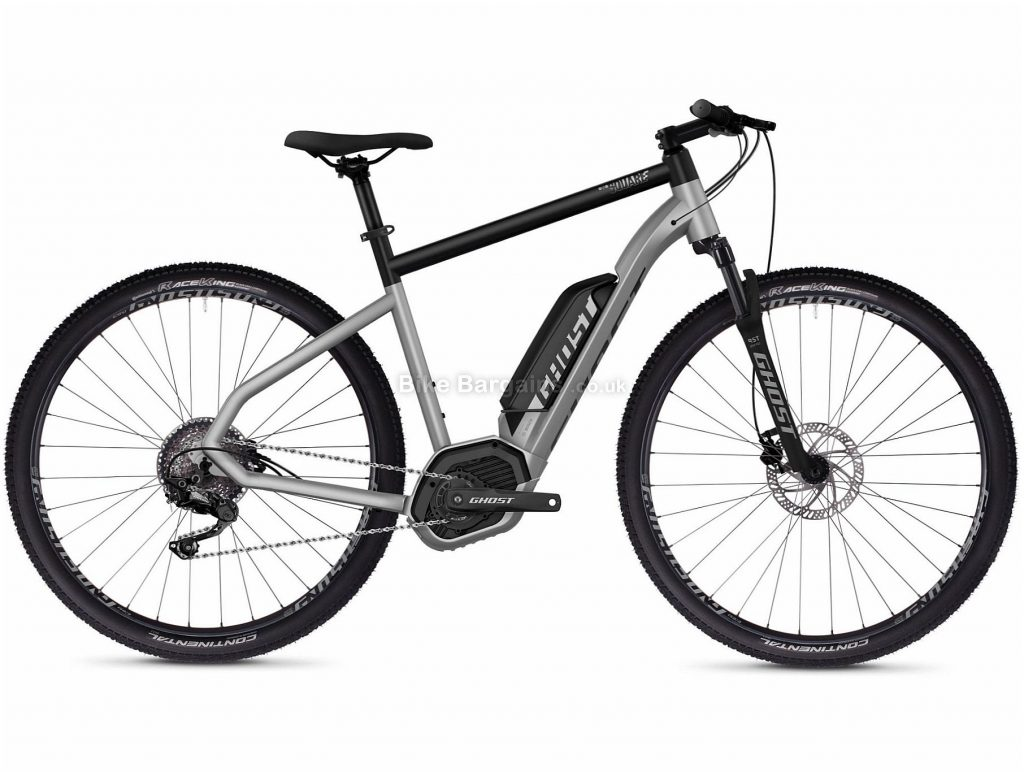 "Ghost Hybride Square Cross B2.9 Urban Alloy Electric Bike 2020 L, Silver, Black, 10 Speed, Alloy Frame, 27.5"" Wheels, Disc Brakes, 22kg"