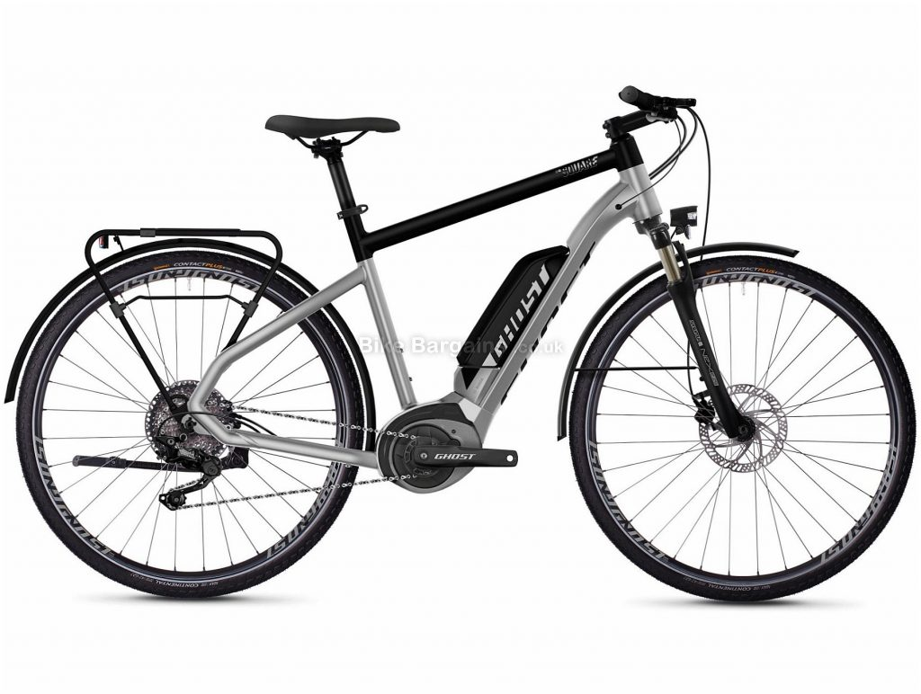 "Ghost Hybride Square Trekking B2.8 Alloy Electric Bike 2020 M, Silver, Black, 10 Speed, Alloy Frame, 27.5"" Wheels, Disc Brakes, 25.7kg"